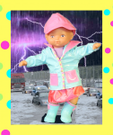 Maria in a lightning storm