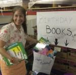 Sheri adding Books to a birthday bag
