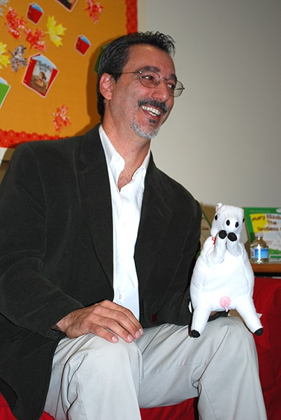 Sal with Mary Elizabeth Puppet